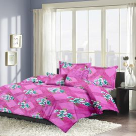 MEL - 16A-Pink-Small with 2 pillow covers