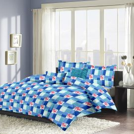 MEL- 21-Blue-Small with 2 pillow covers