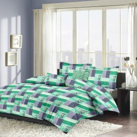 MEL- 22-Green-Small with 2 pillow covers