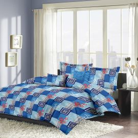 MEL - 23-Blue-Small with 2 pillow covers