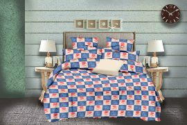 MEL - 30-Blue-Small with 2 pillow covers