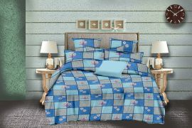 MEL - 31-Blue-Small with 2 pillow covers