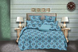 MEL - 33-Blue-Small with 2 pillow covers